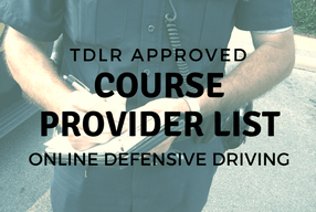 List of TDLR/TEA Approved Online Defensive Driving Courses in Texas