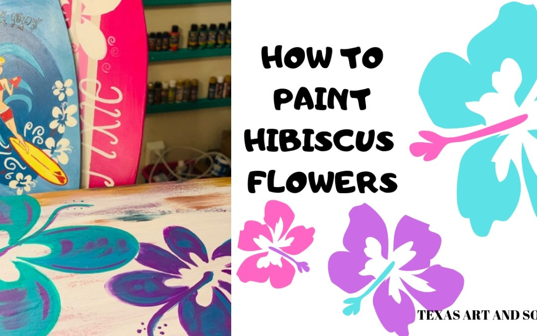 How to Paint Hibiscus Flowers