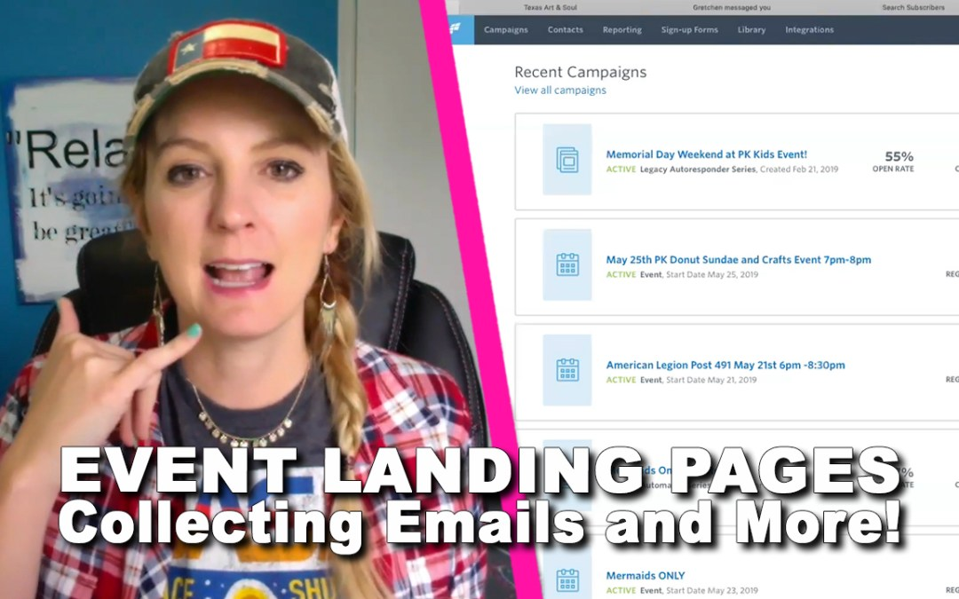 Event Landing Pages, Collecting Emails, and More!