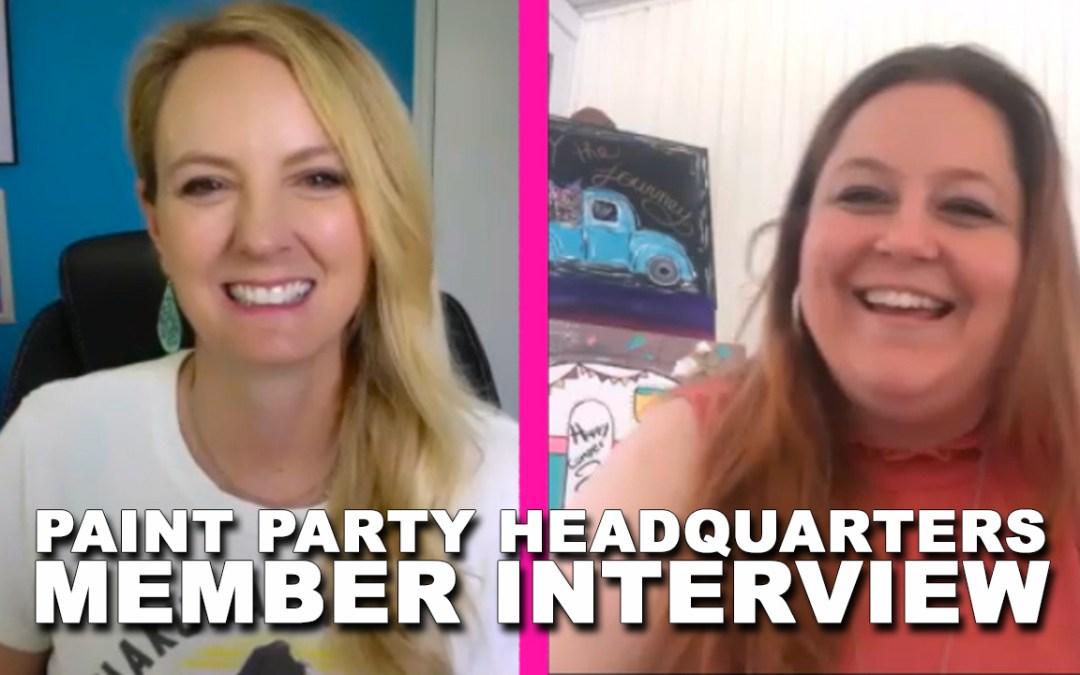 Liz Oswald Talks About Paint Parties