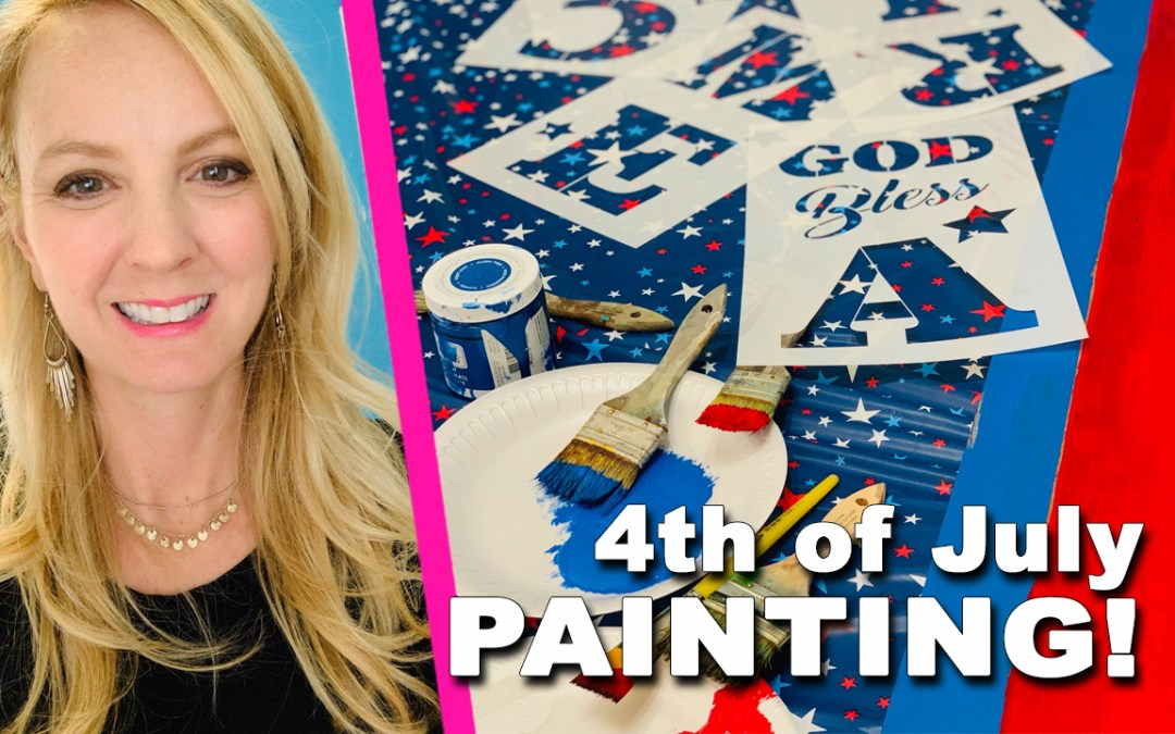 Let's Paint! 4th of July Sign!