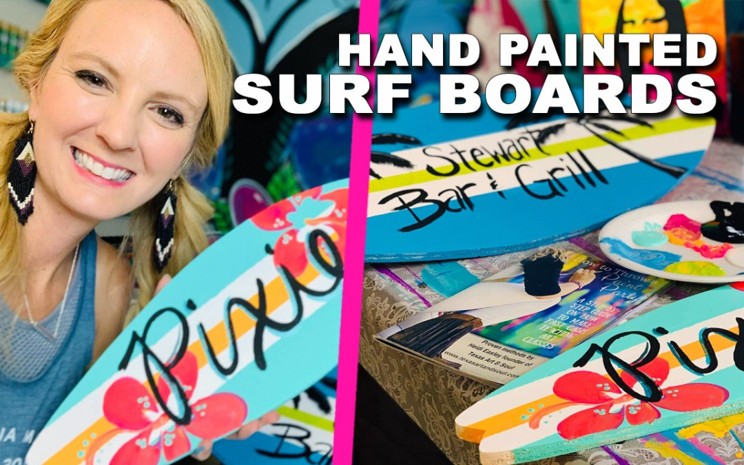 Video: Easy Way to Paint Decorative Surfboards!