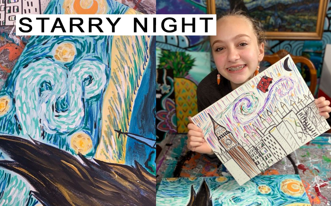 Step-by-Step STARRY NIGHT Painting!