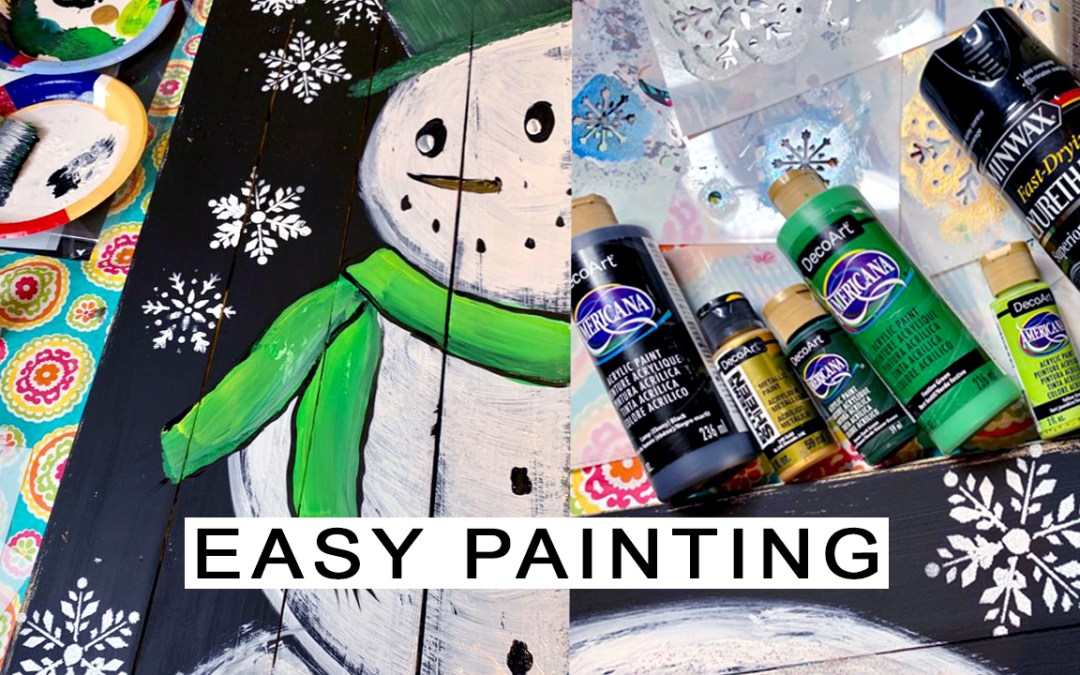 How to Paint a Snowman {Easy DIY}