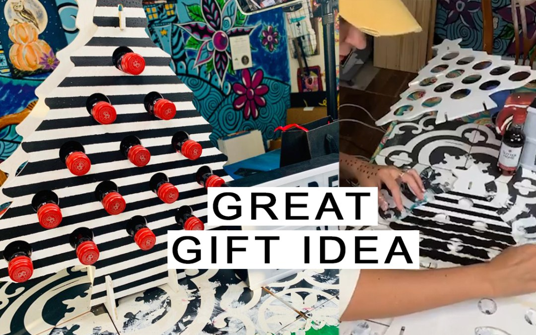 PAINT A WINE BOTTLE HOLDER – GREAT CHRISTMAS PRESENT!!!