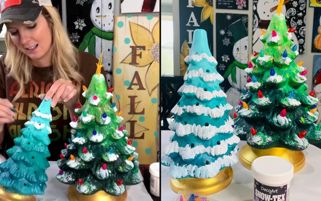 HAVE YOU PAINTED A CERAMIC TREE YET?
