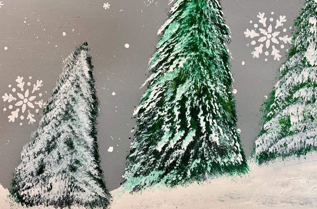 How To Paint An Easy Backdrop For Your Christmas Mantel