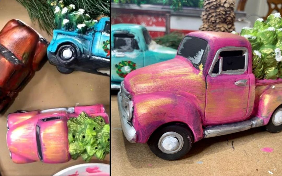 Ceramic Truck and Tree Painting Tutorial