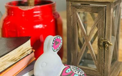Ceramic Bunny Box for Spring Paint Parties