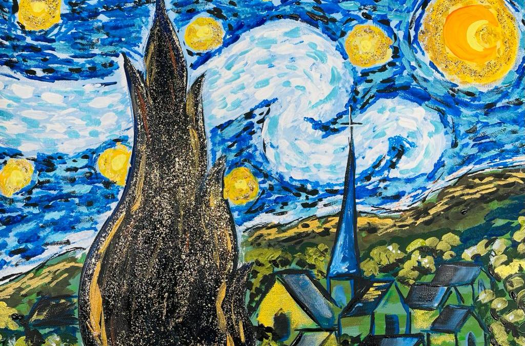How to Paint Paint Starry Night | Part 1