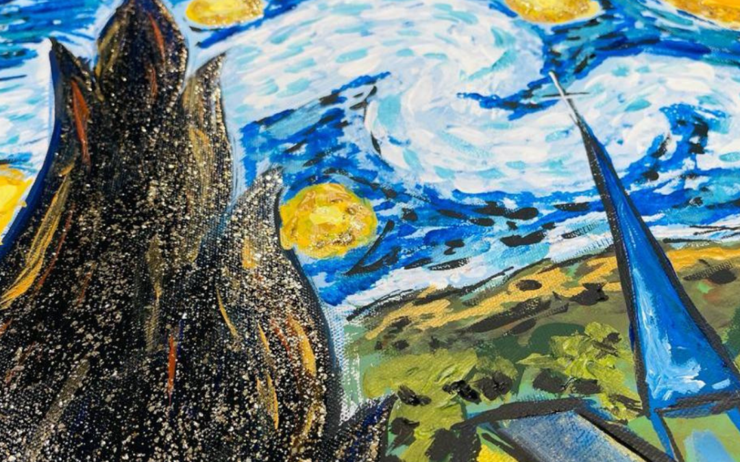 How to Paint Paint Starry Night | Part 2
