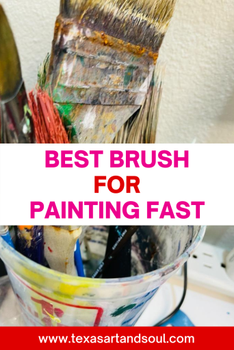 Best brush for painting fast pin with image of chip brushes in plastic container