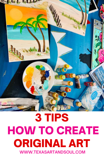3 tips - how to create original art with acrylic paintings of the beach