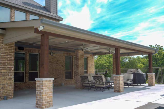 modern patio cover texas best fence
