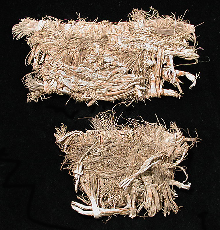 Pair of Sandals Made from Lechuguilla Fibers