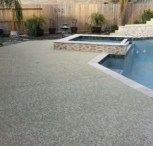 Concrete Pool Decking After Resurfacing