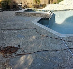 Concrete Pool Decking Before Resurfacing