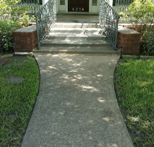 Concrete Resurfacing of Walkway Houston Before Image
