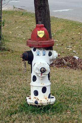 Boling Texas fire hydrant painted like a dog