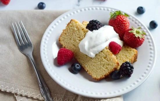 Almond Sour Cream Keto Pound Cake