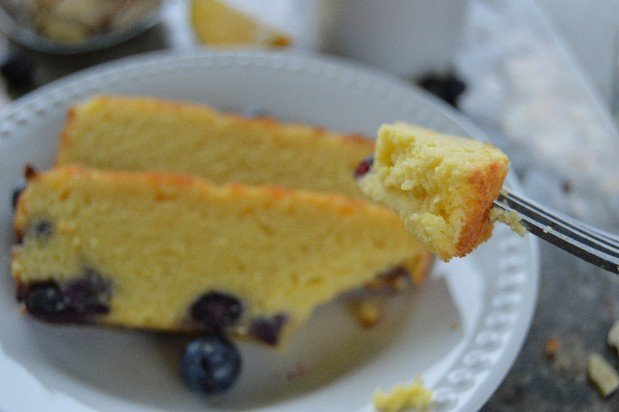 Lemon BlueBerry Cream Cake- Made with almond flour and no sugar this cake is going to impress. Bright lemon flavor and sweet blueberries are the perfect spring combination.
