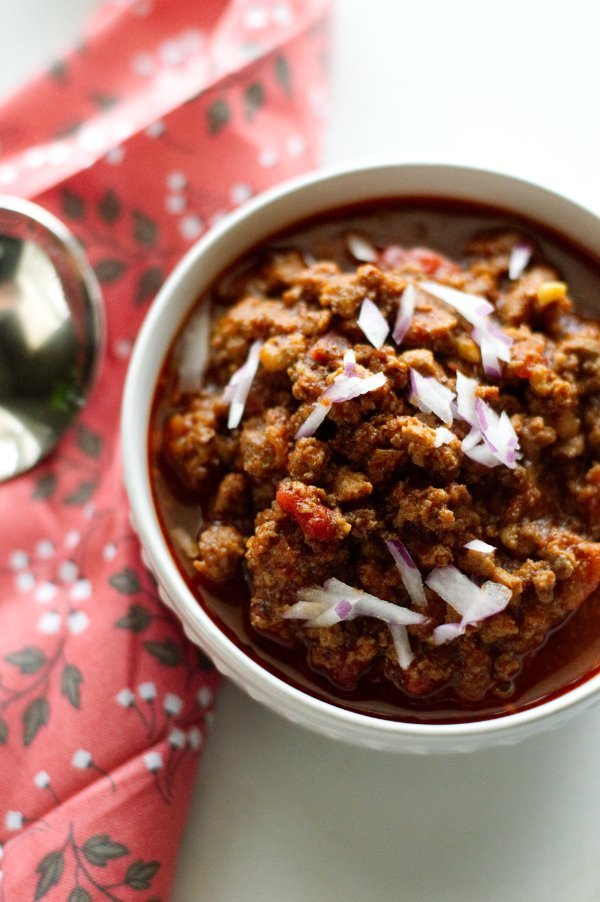 Texas Style Venison Chili - Low Carb