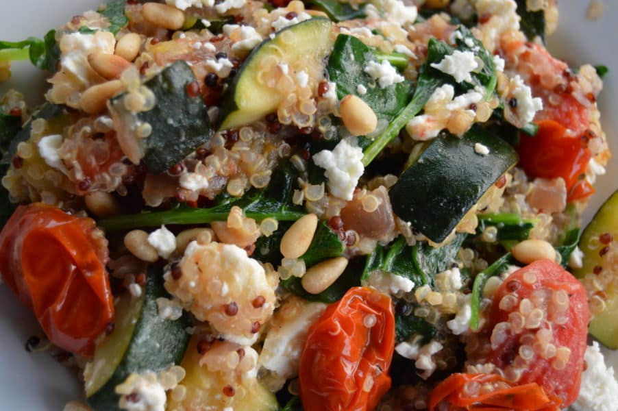 Warm Mediterranean Quinoa Salad incredibly delicious and highly addictive! Its perfect...healthy, light, comforting, satisfying and simple.