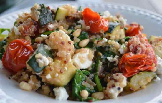 Warm Mediterranean Quinoa Salad with Zucchini