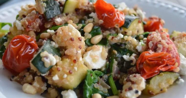 Warm Mediterranean Quinoa Salad with Zucchini