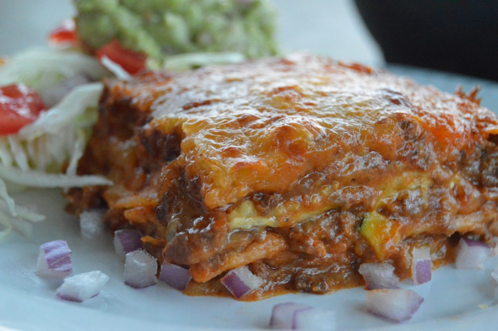 Serve this Low Carb Tex-Mex Enchilada Casserole up with a simple salad of lettuce and tomato with a dollop of Authentic Tex-Mex Guacamole and you have yourself a healthy, satisfying Tex-Mex meal that would make anyone, carb lovers included, come back for seconds!