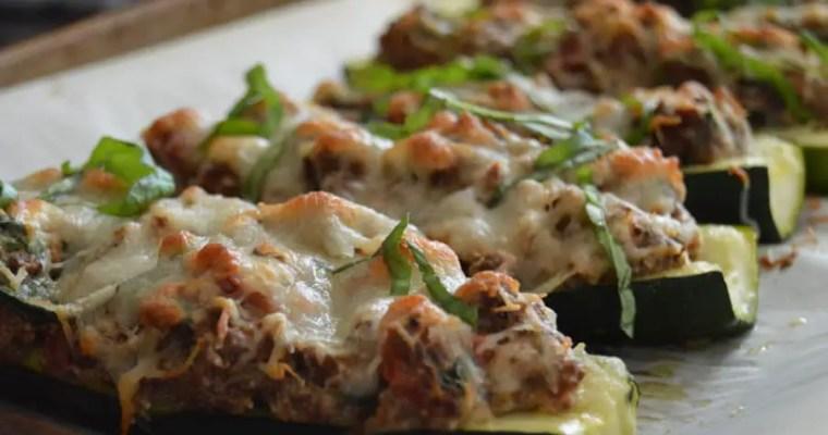 Cheesy Ricotta Stuffed Zucchini
