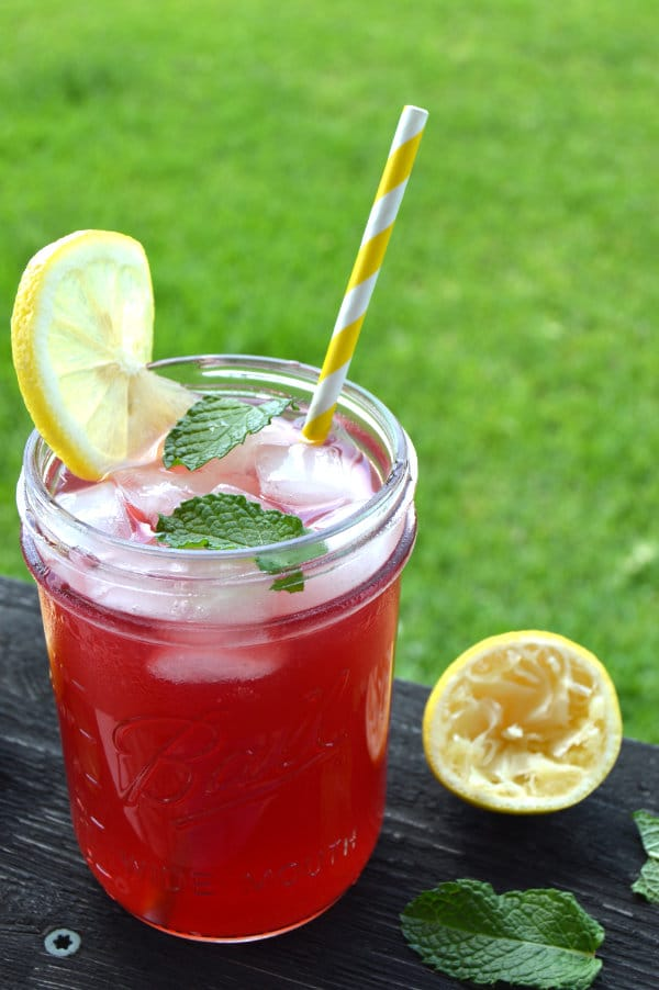 Pomegranate Mint Lemonade takes this refreshing summer drink over the top. Tart, cool, sweet and sour...it is lemonade at its finest!