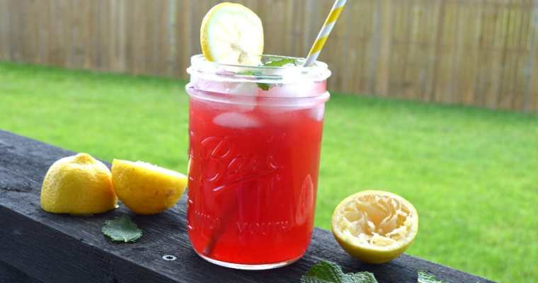 Pomegranate Mint Lemonade