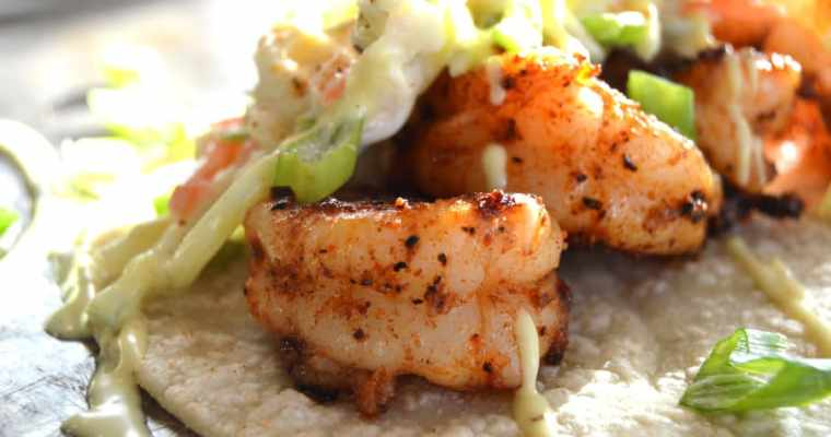 Blackened Shrimp Tacos