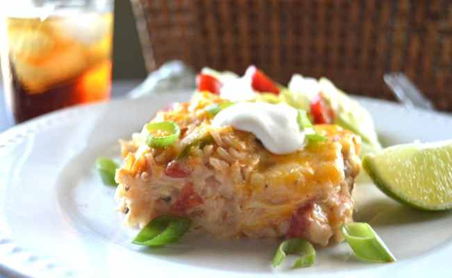 Easy Tex-Mex Chicken & Rice Casserole