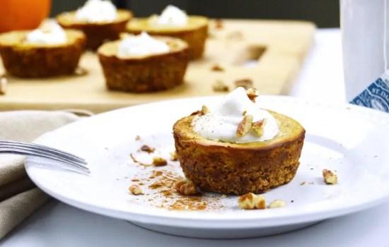 Maple Pecan Low Carb Pumpkin Pie Tartlets