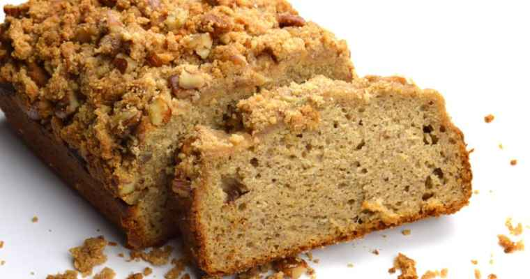 Maple Pecan Streusel Banana Bread