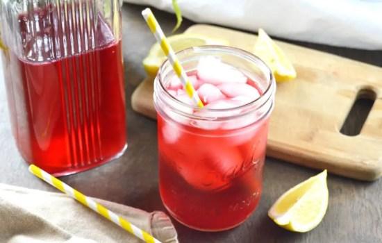 Sugar Free Hibiscus Lemonade Cooler
