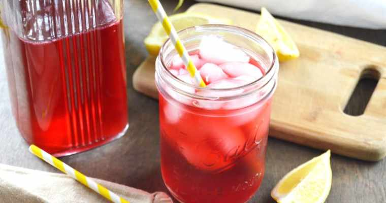 Sugar Free Hibiscus Lemonade Cooler