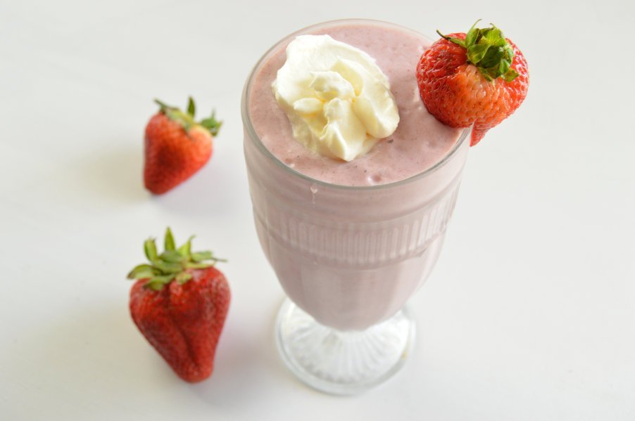 Keto Dairy Free Strawberry Colada Milkshake