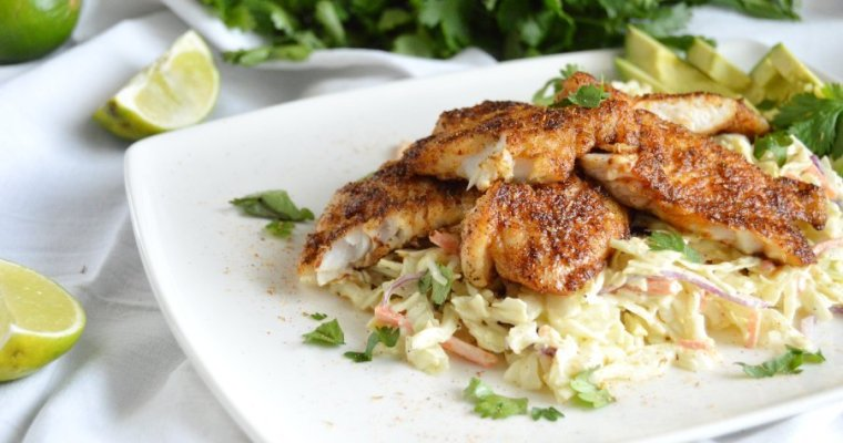 Blackened Redfish Taco Bowls – GF, LC, Keto