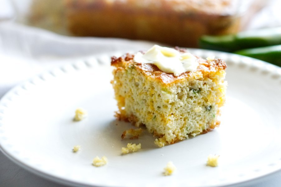 Low Carb Cornbread with butter