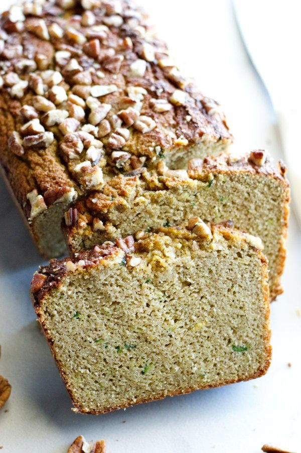 low carb zucchini bread loaf