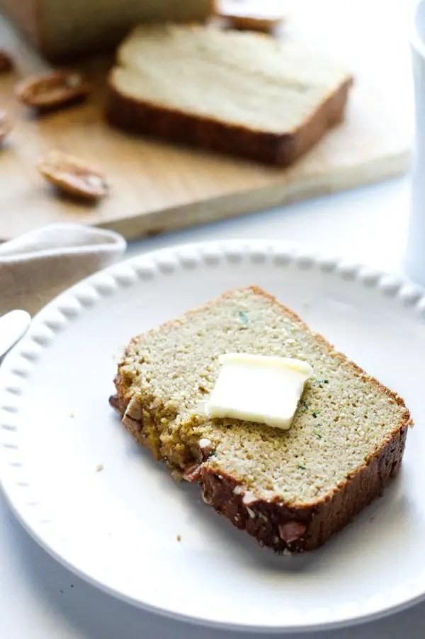 Low Carb Zucchini Bread Slice