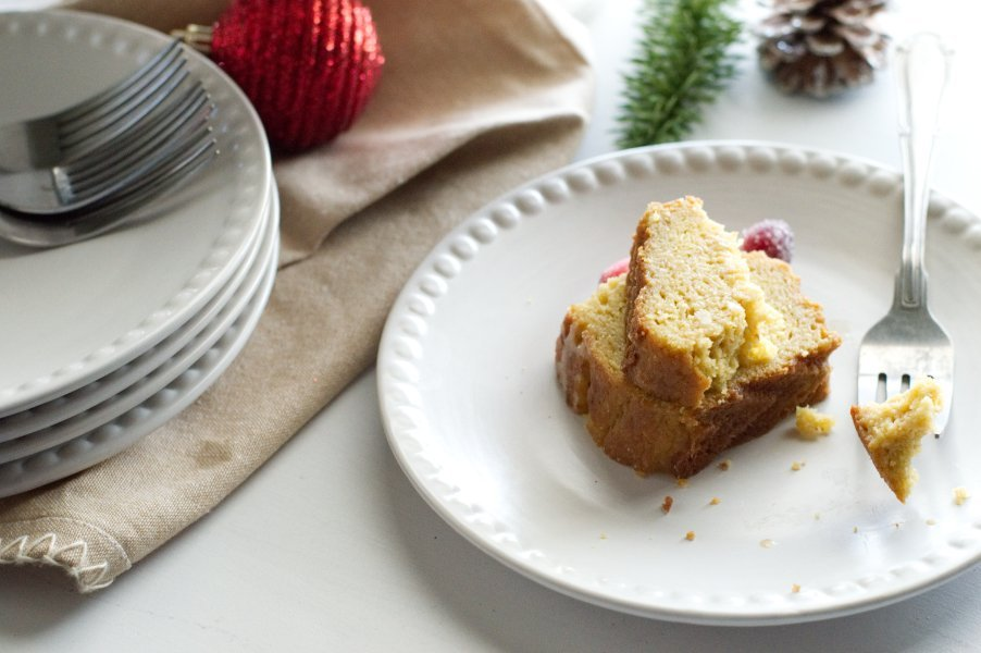Piece of Keto Rum Cake - Low Carb, Gluten Free