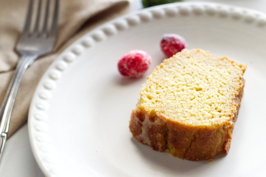 Piece of Keto Rum Cake