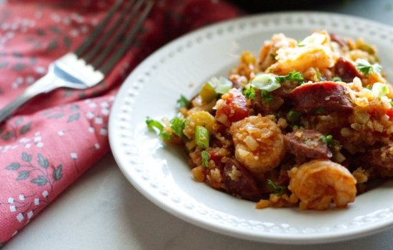 Keto Jambalaya with Shrimp & Andouille