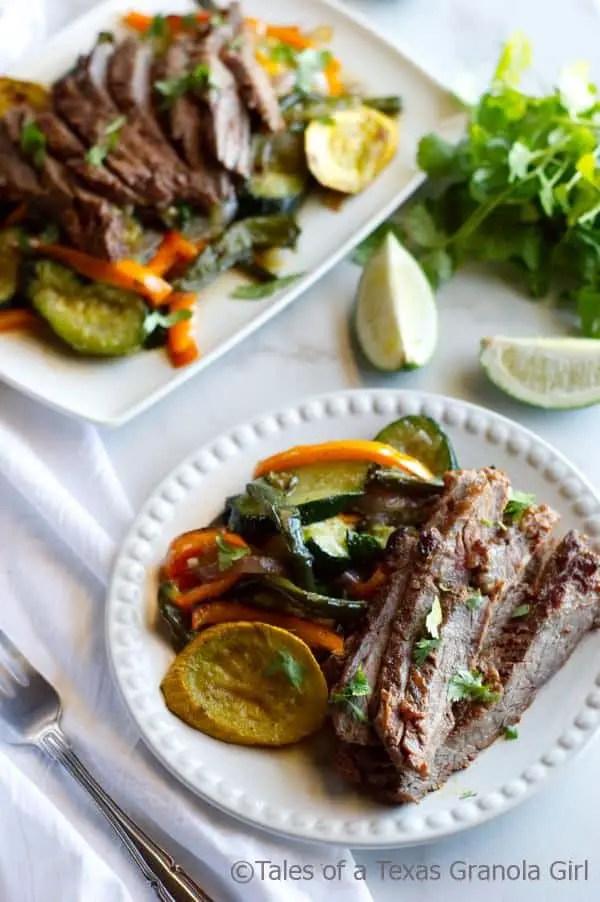 Chili Lime Steak Fajitas with Squash & Peppers - Low Carb, Keto, Dairy Free