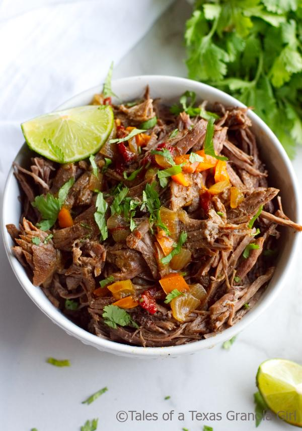 Bowl of shredded beef