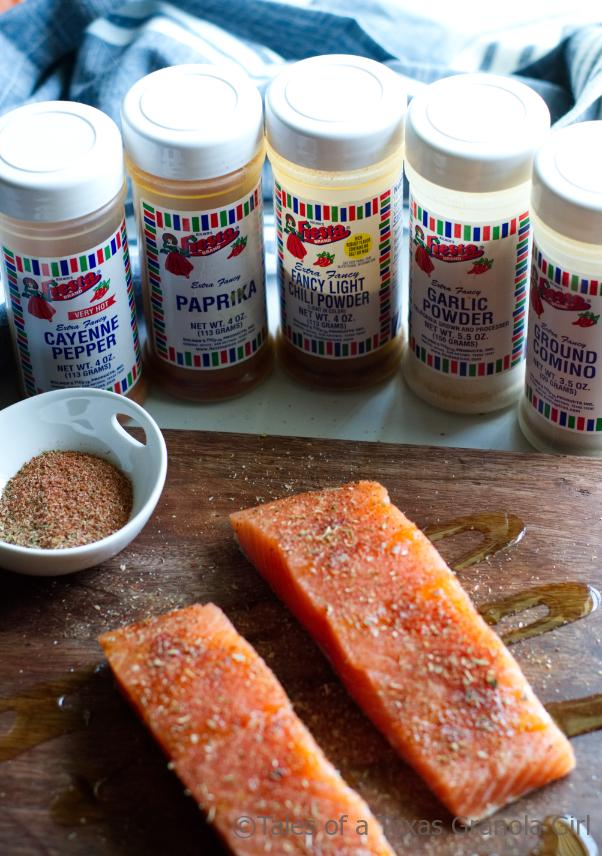 Seasonings for Grilled Salmon with Cilantro Lime Crema - Low Carb, Keto Meal Idea
